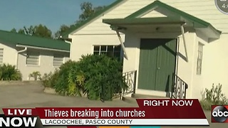 Thieves breaking into churches - Video