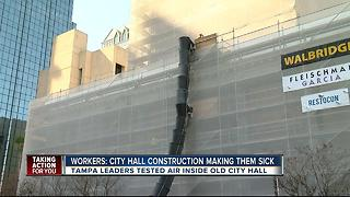 City hall construction making Tampa workers sick - Video