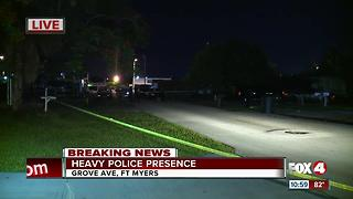 Heavy police presence in Fort Myers - Video