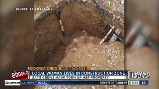 Las Vegas woman endures 'construction insanity' - Video