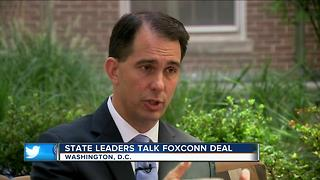 Charles Benson one-on-one with Gov. Walker about Foxconn