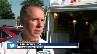 Speaker Vos reacts to Priebus' resignation - Video