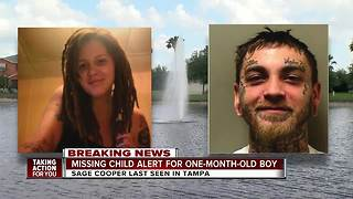 Florida missing child alert issued for 1-month-old last seen in Tampa - Video