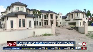 Naples Police looking for whoever stole copper from home under construction - Video
