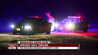 Speeding wrong way driver stopped on I-43 - Video