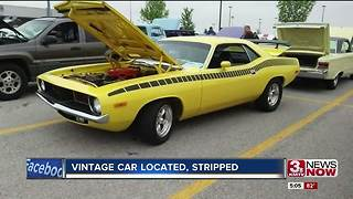 Stolen Vintage Barracuda located, parts stripped - Video