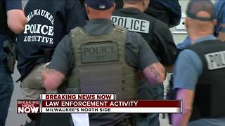 BREAKING: Large FBI, Milwaukee Police presence on Milwaukee's north side - Video
