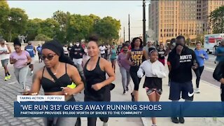 Detroit running club gives away more than $10,000 worth of running shoes