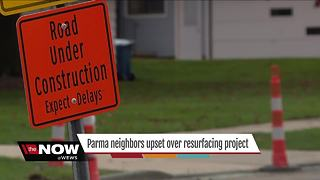 Parma residents say construction is problematic, calling it a 'nightmare' - Video