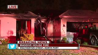 North Port home destroyed by fire