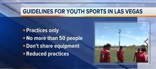 City of Las Vegas provides additional guidelines for sports fields