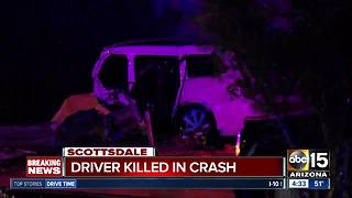Driver killed in crash on Scottsdale Road - Video