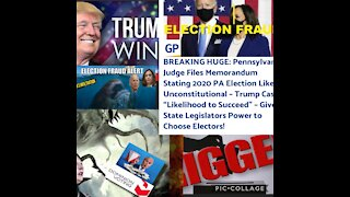 Breaking Election News: PA favorable Trump ruling!