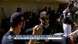 Ryan Braun, Jonathan Villar to rehab with Timber Rattlers - Video