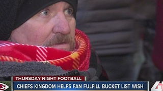 Terminally ill cancer patient gets wish to see Chiefs play - Video