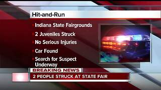 Two people struck by car during hit-and-run at Indiana State Fair - Video