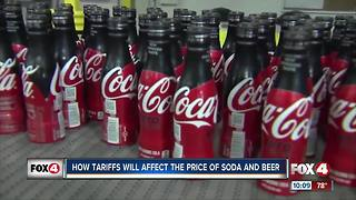 How tariffs will affect the price of soda and beer - Video