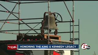 Hoosiers gather at Kennedy-King Memorial to honor MLK on the 50th anniversary of his assassination - Video