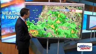 Low pressure west of Tampa has become Tropical Depression Six - Video