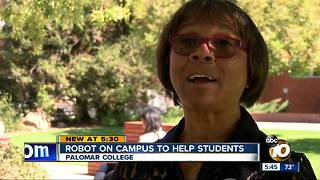 Robot on campus to help Palomar College students - Video
