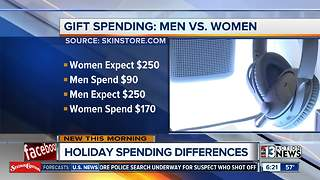 Men spend less for Christmas