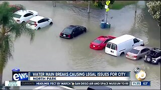 Water main breaks causing legal issues for city