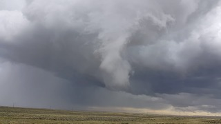 Funnel Cloud Spotted Forming Near Wyoming Town - Video