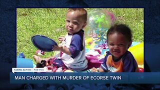 Man charged with murder of Ecorse twin
