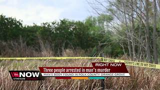 Three people arrested in  man's murder - Video
