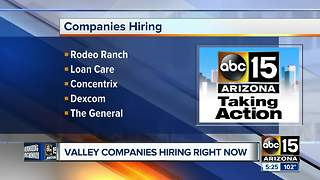 Several Valley companies looking for workers