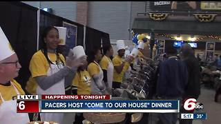 Pacers host 20th Come To Our House Thanksgiving Dinner at Banker's Life Fiedlhouse - Video