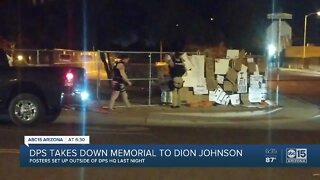 DPS takes down memorial to Dion Johnson