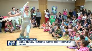 Library's plans to have drag queen read to children sparks backlash - Video