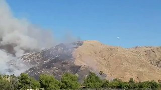 Plane Tacking the Blaine Fire Spotted in Riverside - Video