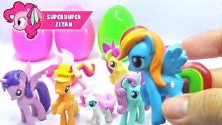 Surprise Eggs My Little Pony - Rainbow Dash And Friends - Video