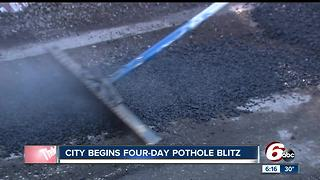 City of Indianapolis begins four-day pothole blitz - Video