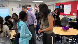 WWE superstars visit Phoenix school - ABC15 Sports