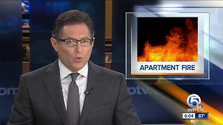 Apartment fire in West Palm Beach - Video