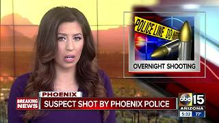 BREAKING: Phoenix officer shoots suspect near 43rd/Missouri avenues - Video