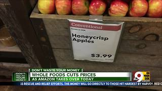 Amazon cuts prices at Whole Foods - Video
