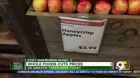 Amazon cuts prices at Whole Foods