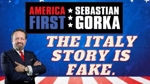 The Italy story is fake. Sebastian Gorka with a caller on AMERICA First