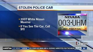 Unmarked police car was stolen during burglary - Video
