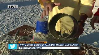 How to make a sand sculpture on Fort Myers Beach - Video