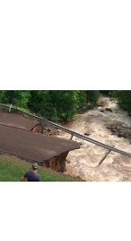 Flooding Causes Total Collapse of Road in Houghton, Michigan