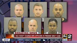 Department of Justice won't charge officers accused in Freddie Gray death - Video