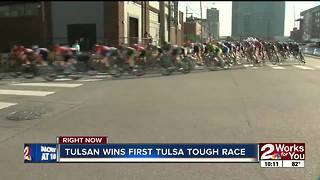 Tulsan wins first Tulsa Tough race - Video