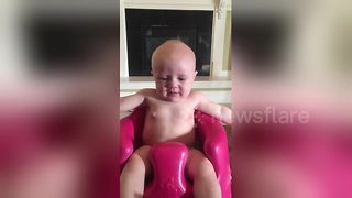 Baby stops crying when mother sings to her - Video