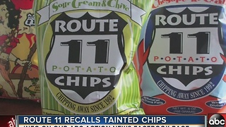 Route 11 issues voluntary recall for sour cream & chive flavored potato chips - Video