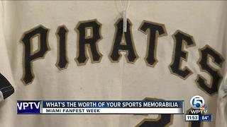 Sports memorabilia up for auction at All-Star Game Fanfest in Miami - Video